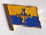 Durham County Flag Enamel Pin Badge